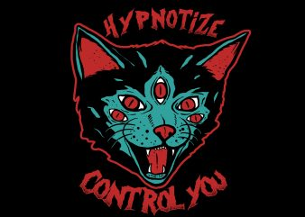 Cat Hypnotize t shirt vector file