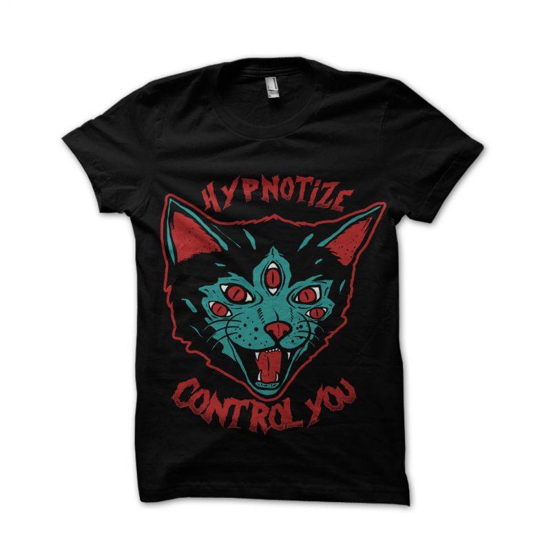 Cat Hypnotize t shirt designs for merch teespring and printful