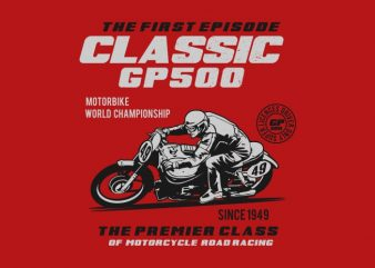 classic gp 500 t shirt design for sale