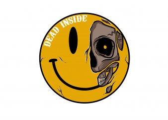 Dead Inside t shirt vector illustration
