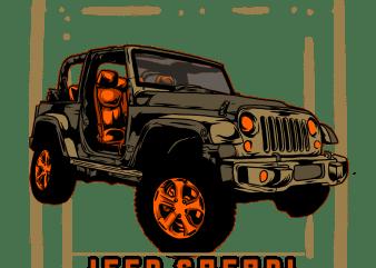 jeep safari vector clipart