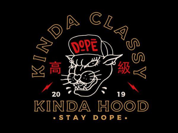 kinda cool kinda hood buy t shirt design