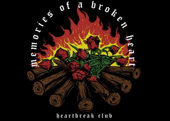 memories of a broken heart buy t shirt design for commercial use