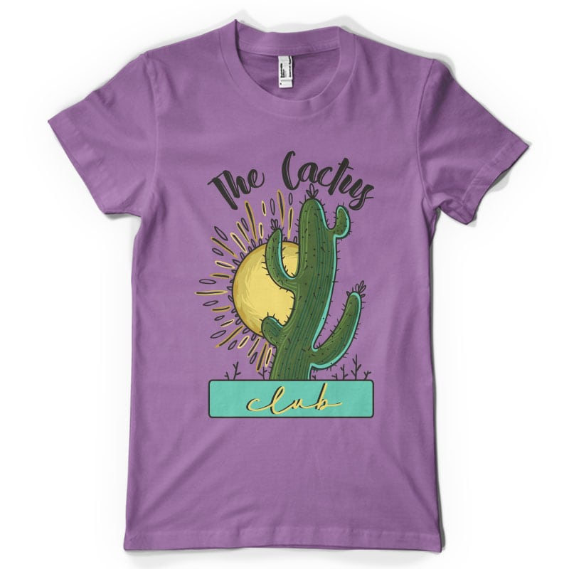 The Cactus Club t shirt designs for printful