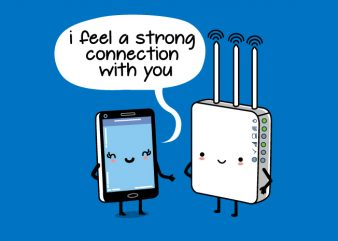 Strong Connection Wifi Mobile Funny Design