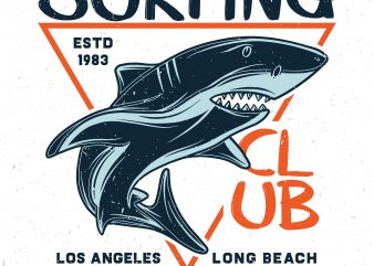 Surfing club. Vector T-Shirt Design