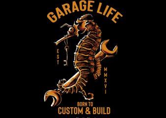 Garage Life t shirt design template