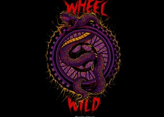 wheel and wild t shirt design for sale