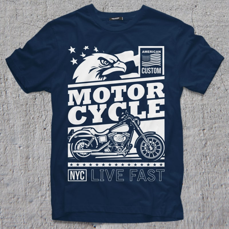 AMERICAN CUSTOM t shirt designs for merch teespring and printful