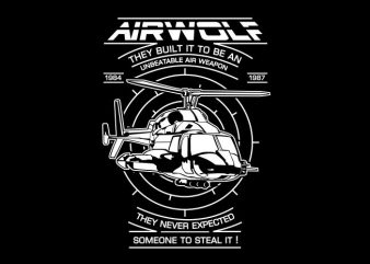 Air Wolf t shirt vector