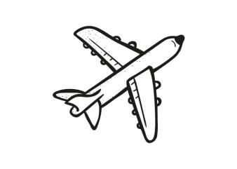 Airplane plane travel traveler wanderlust simple vector graphic t shirt design