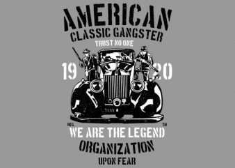 American Classic Gangster Graphic t-shirt design