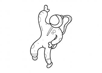 Astronaut space child minimal tattoo vector t shirt graphic design