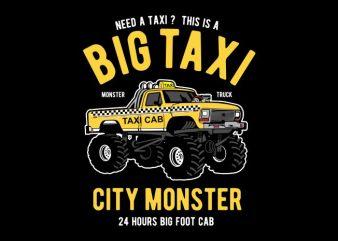 Big Taxi buy t shirt design artwork