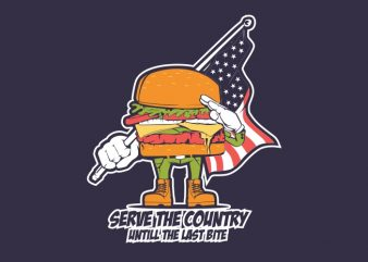 Burger Patriot buy t shirt design
