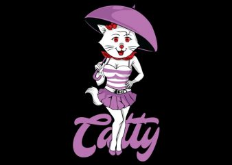 Catty t shirt design for sale
