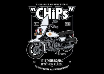 Chips commercial use t-shirt design