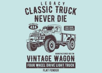 Classic Truck Vector t-shirt design