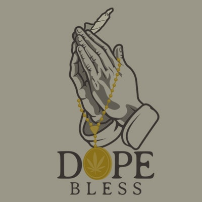 DOPE BLESS t shirt vector illustration