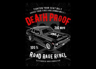 Death Proof t shirt vector illustration
