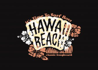 Hawai Beach Surfer graphic t-shirt design
