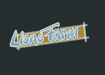 Lions Farm t shirt vector graphic