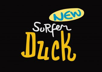 New Surfer Dcck vector t-shirt design