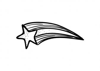 Falling star t shirt graphic design