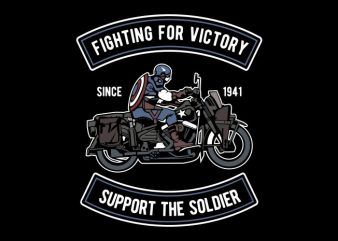Fighting For Victory t shirt graphic design