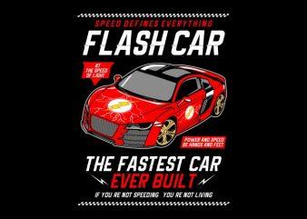 Flash Car buy t shirt design artwork