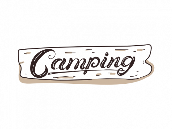 Hand drawn Camping shield outdoor shirt designs