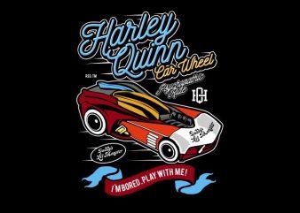 Harley Quinn Car Wheel graphic t shirt
