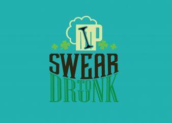 I Swear To Drink Beer t shirt design for sale