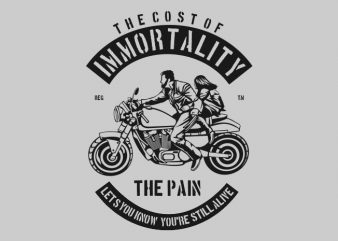 Immortality print ready vector t shirt design