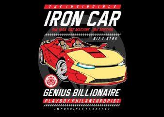 Iron Car vector shirt design