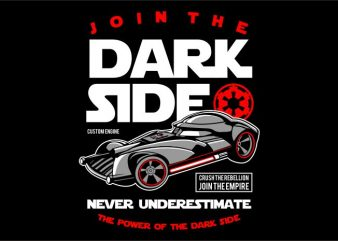 Join The Darkside vector clipart