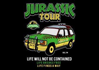 Jurassic Tour commercial use t-shirt design