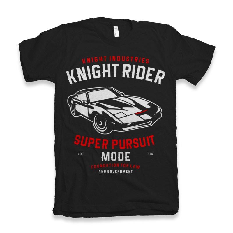 Knight Rider t shirt designs for printful
