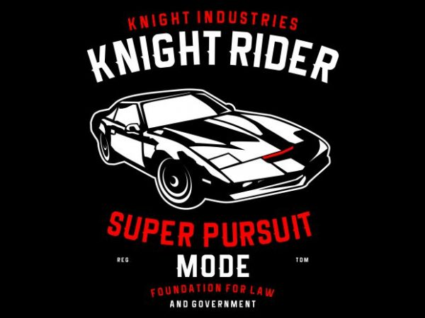 Knight Rider vector t shirt design for download