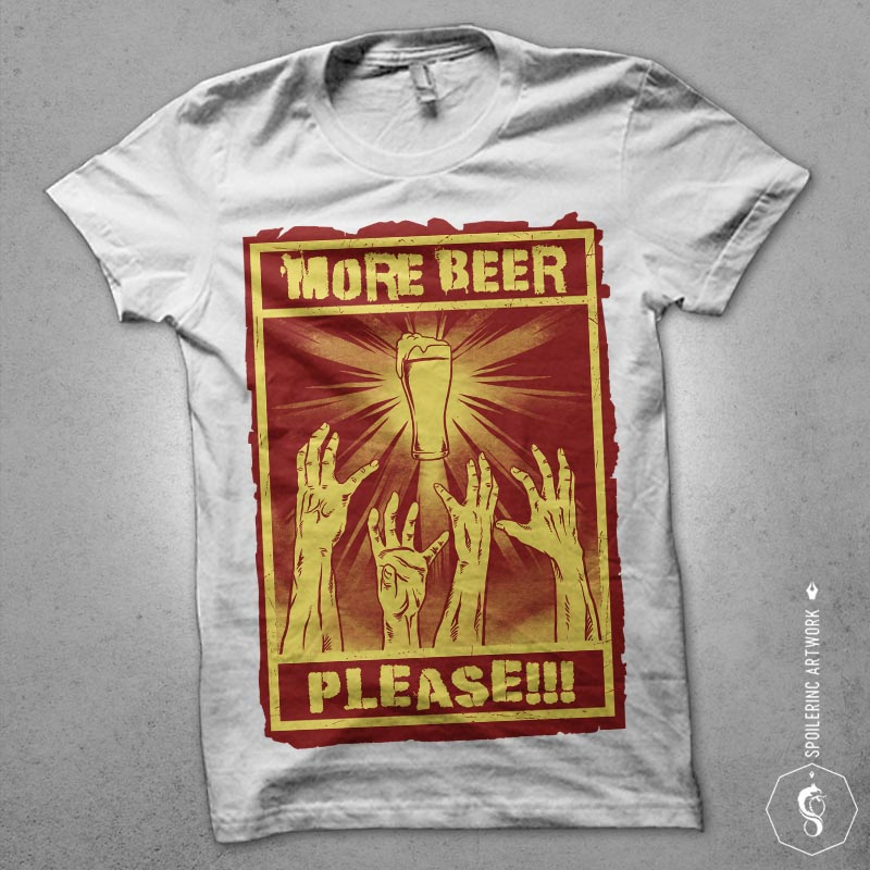 thirsty zombies Graphic t-shirt design tshirt design for merch by amazon
