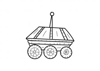 Mars rover planets space minimal tattoo children vector t shirt printing design