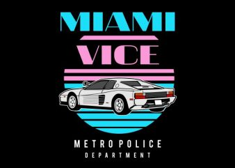 Miami Vice t shirt designs for sale