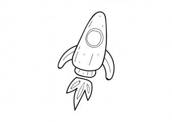 Minimal rocket space astronaut tattoo vector t shirt printing design