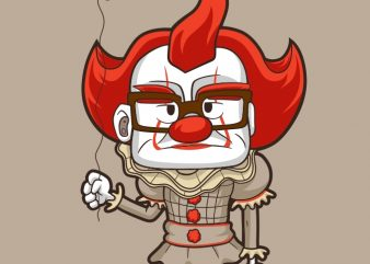 NICE CLOWN vector t shirt design for download