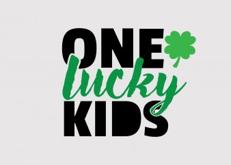 One Lucky Kids vector t-shirt design