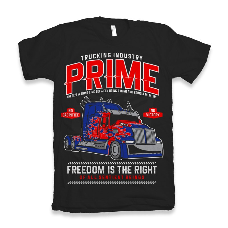 Prime Truck commercial use t shirt designs