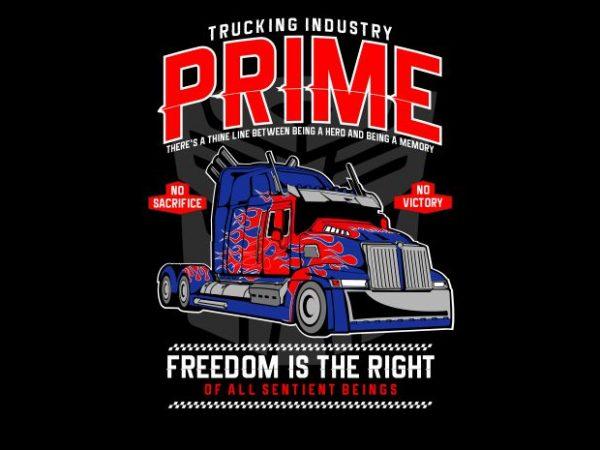 Prime Truck print ready vector t shirt design