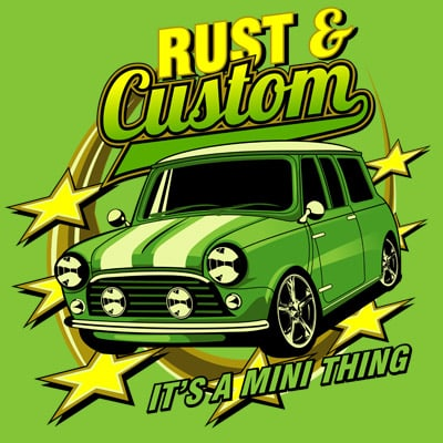 RUST AND CUSTOM vector t-shirt design for commercial use