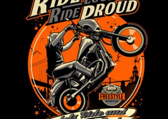 RIDE PROUD t shirt design to buy