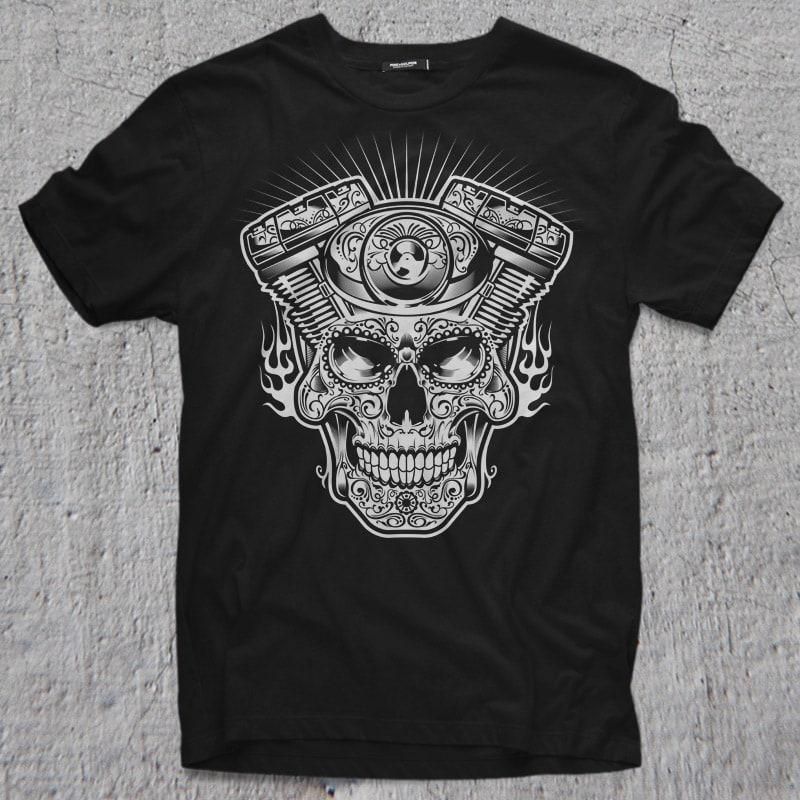 MACHINE HEAD vector t shirt design